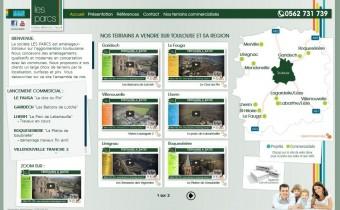 Nouveau site internet pour les Parcs aménageurs